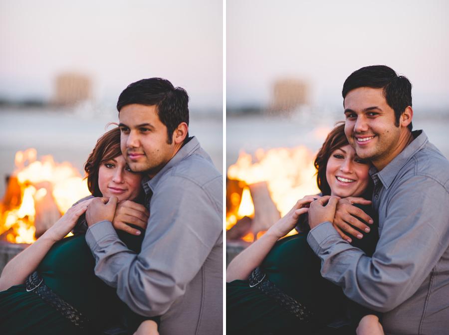 dreamy bonfire engagement portraits, denver wedding photographer dan hand