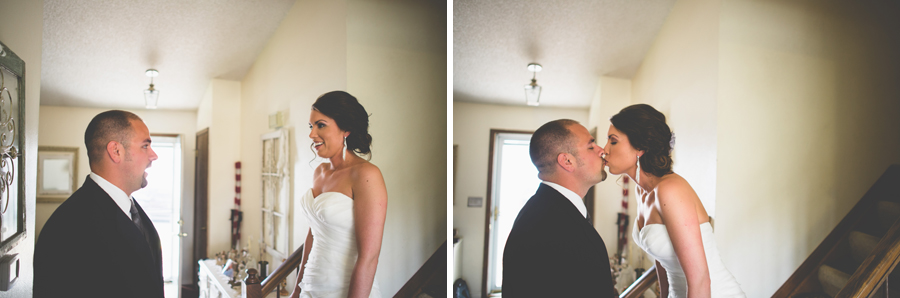 Bride and Groom first look, denver wedding photography