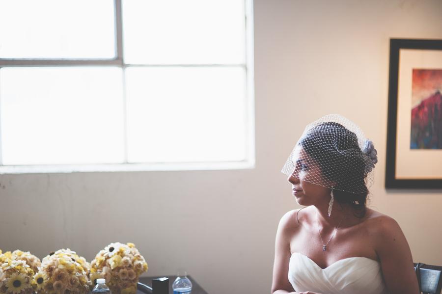 beautiful bride window light portrait denver colorado