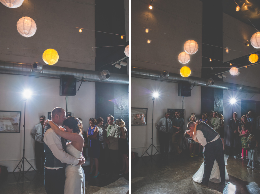 bride and groom first dance space gallery denver