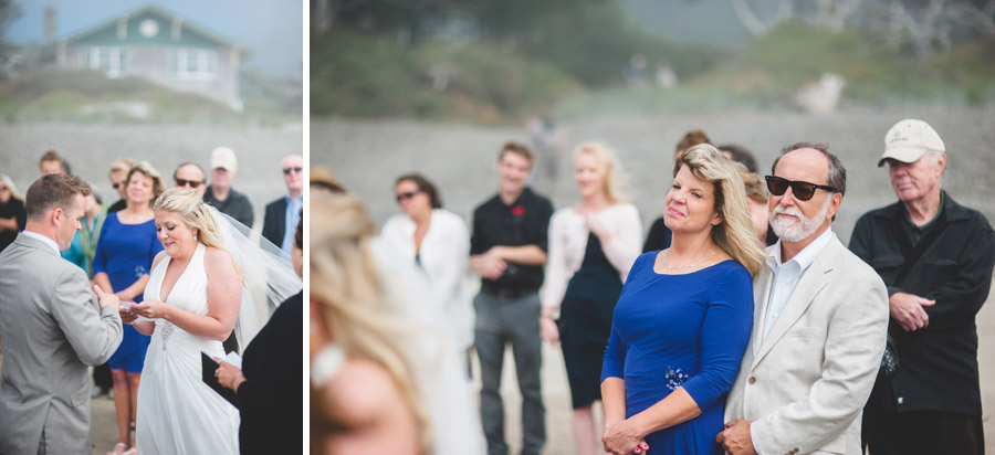 arch cape oregon wedding ceremony