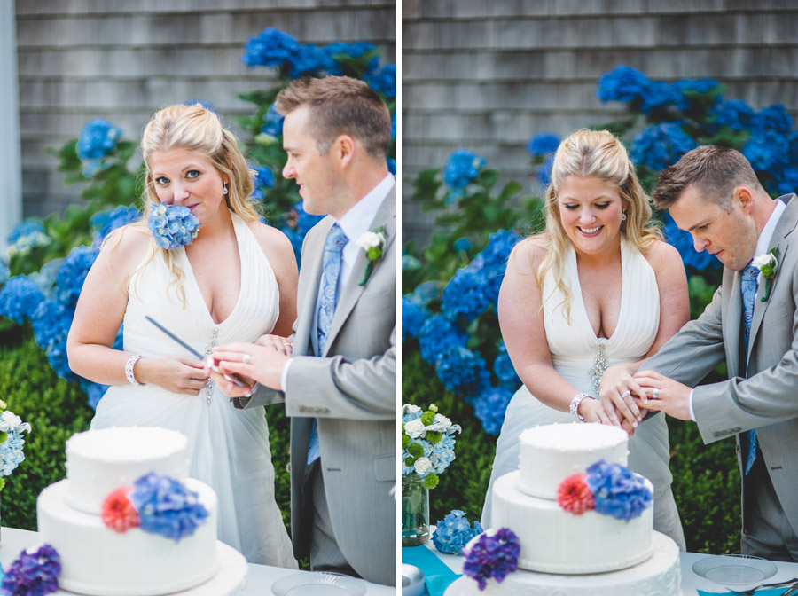 cake cutting oregon coast beach wedding