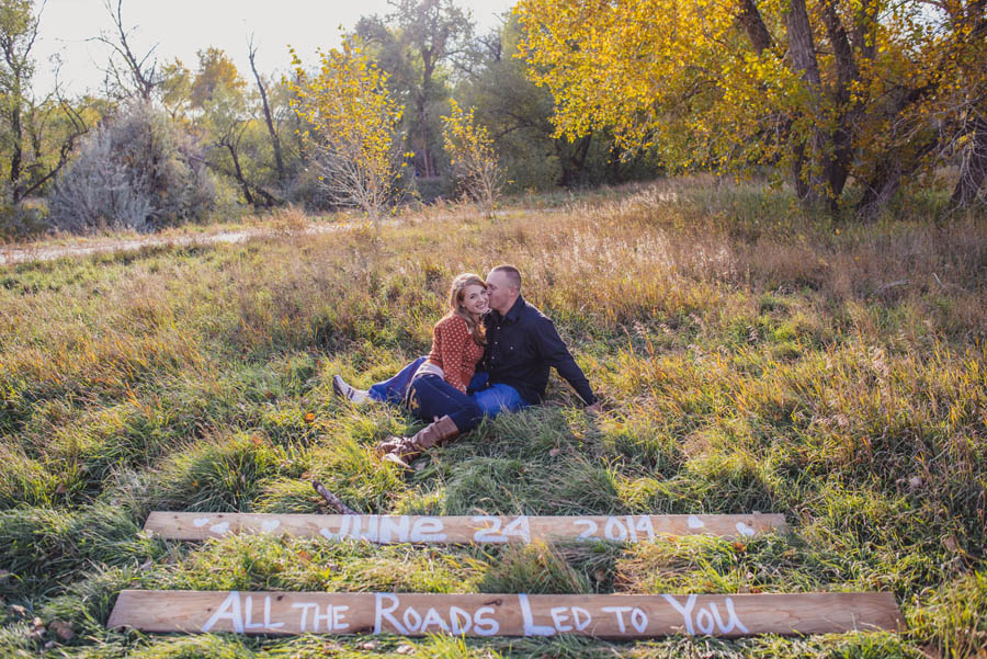 engagement photos at the bear creek greenbelt near denver colorado