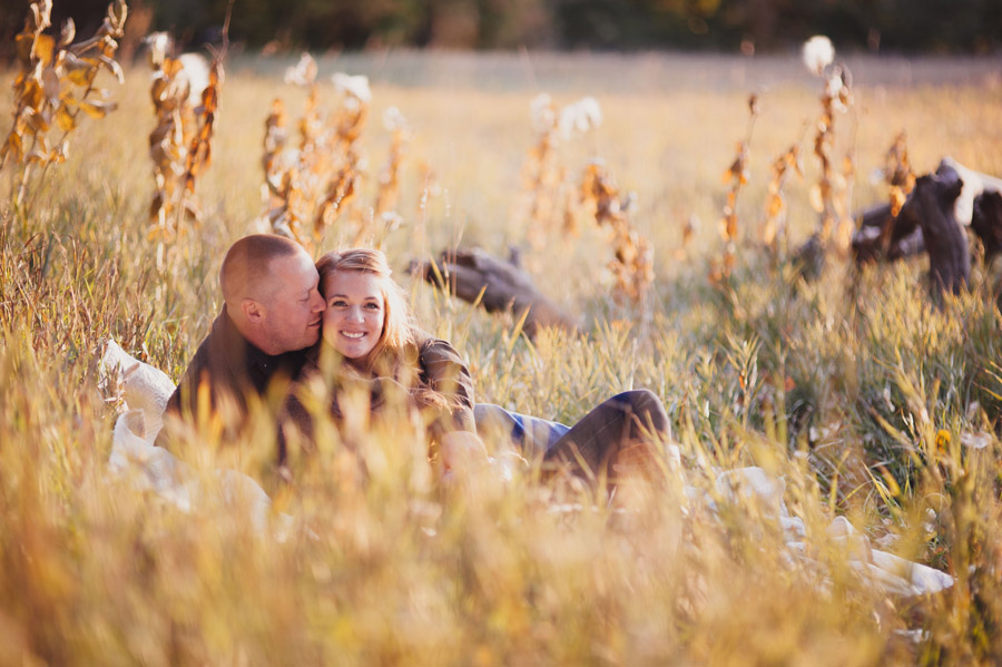 fall golden hour engagement photography in denver colorado