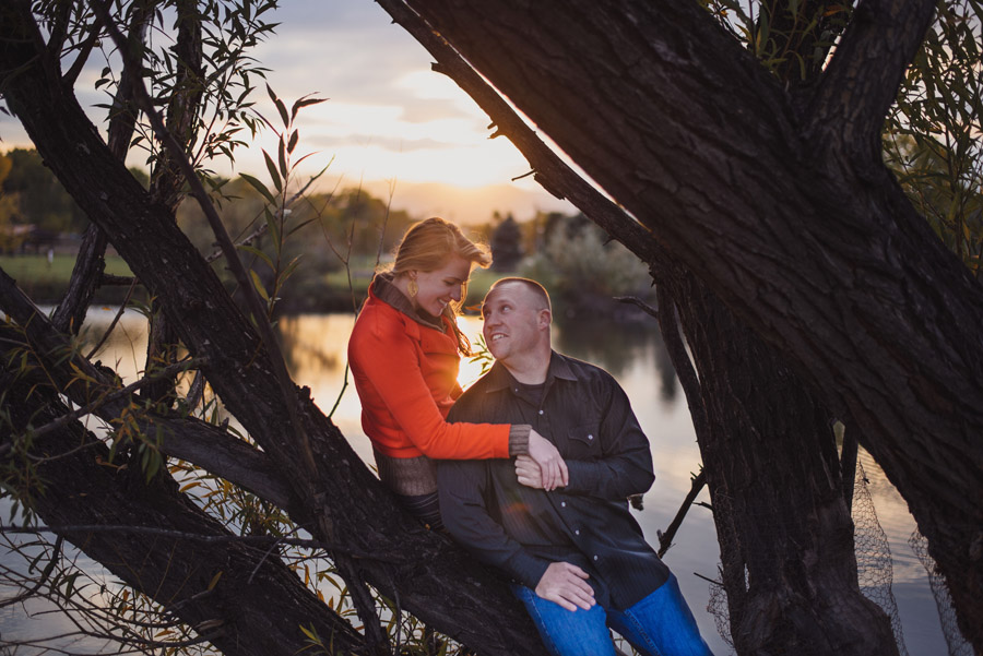 sunset engagement photos at bear creek greenbelt