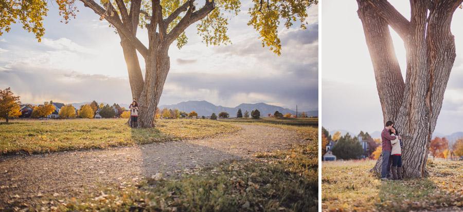 scenic engagement photos in boulder colorado