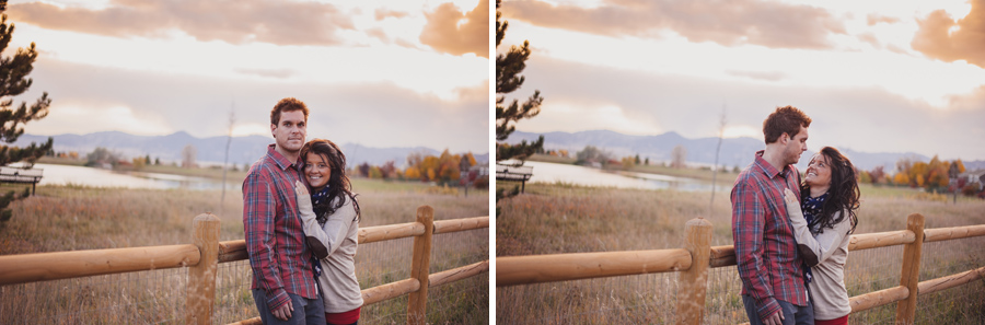sunset engagement photos in louisville colorado