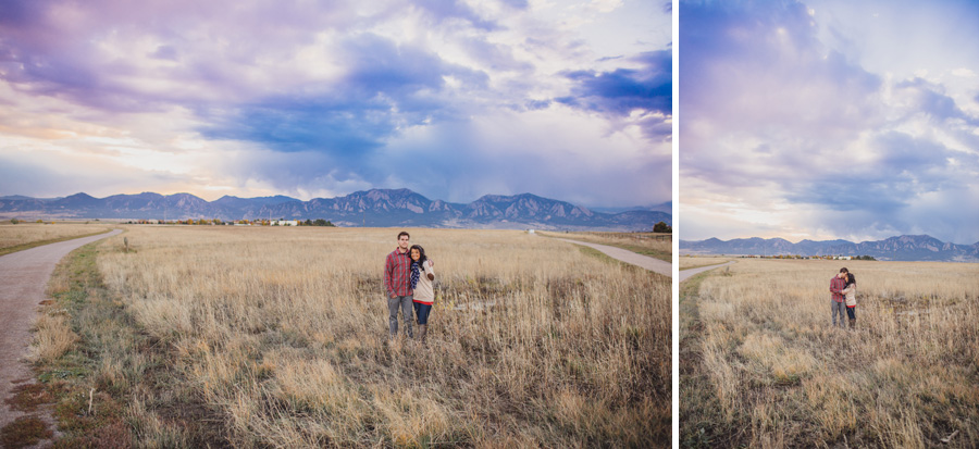 engagement photos in the boulder foothills