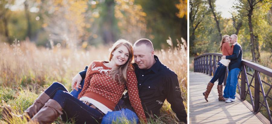 engagement photos at the bear creek greenbelt