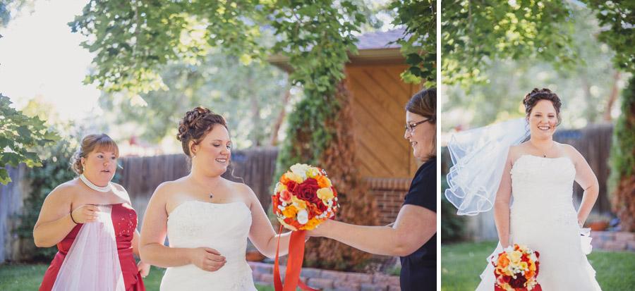 bride gets ready in broomfield colorado