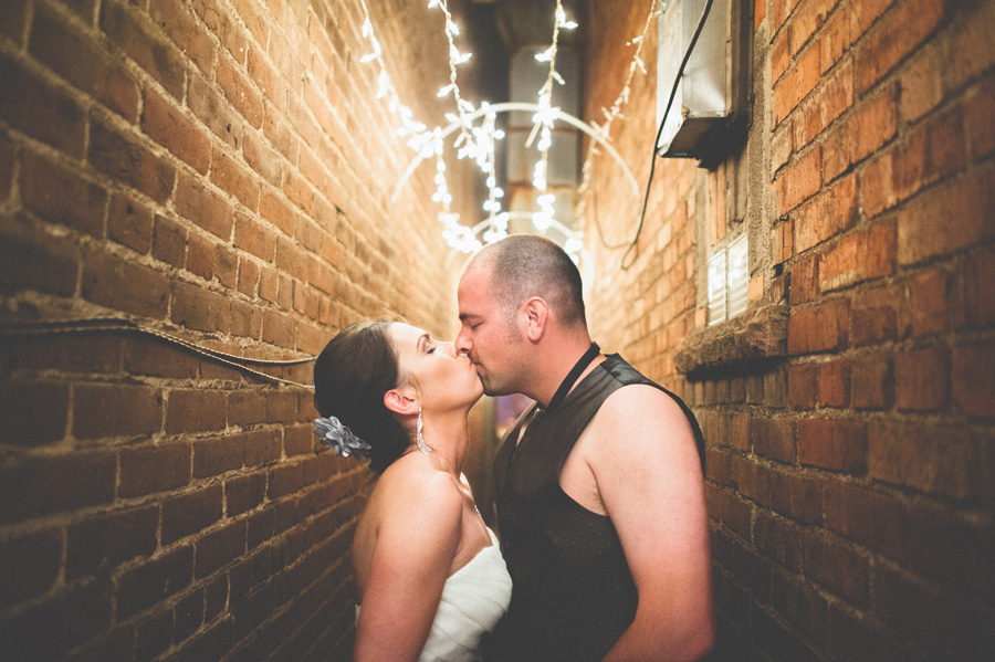 Epic bride and Groom kiss shot by Denver Wedding Photographer Dan Hand
