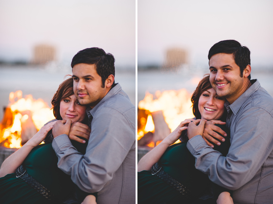 bonfire engagement pictures in san diego