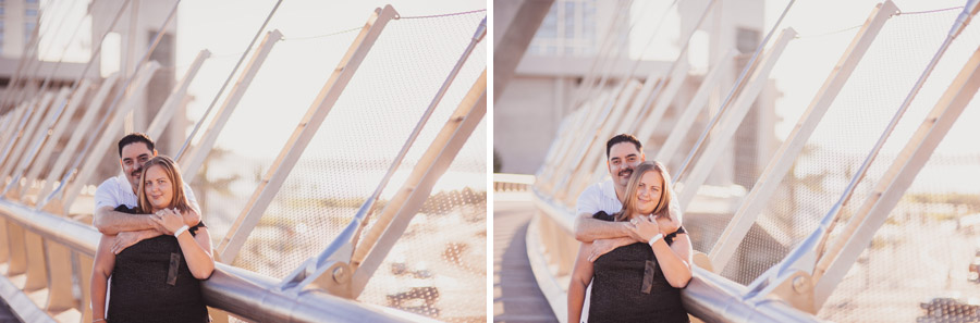 engagement photos overlooking the waterfront in san diego