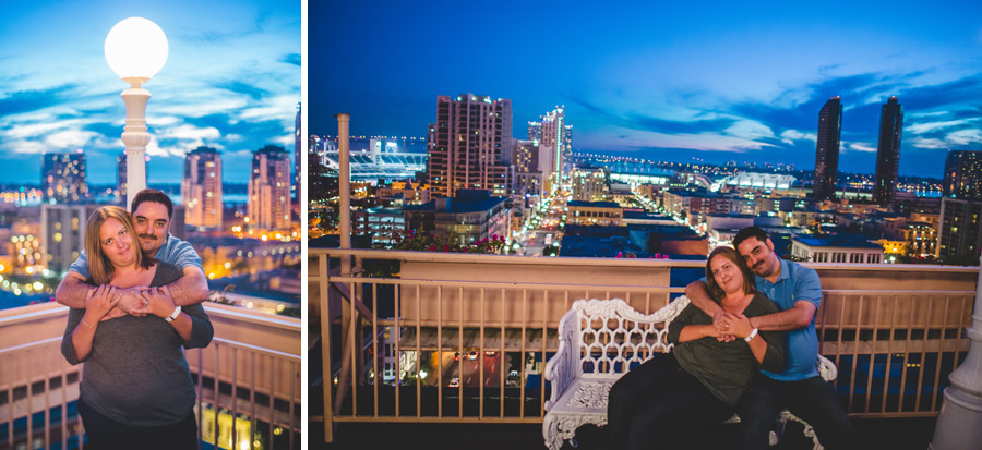 gorgeous engagement photos on scenic rooftop in san diego
