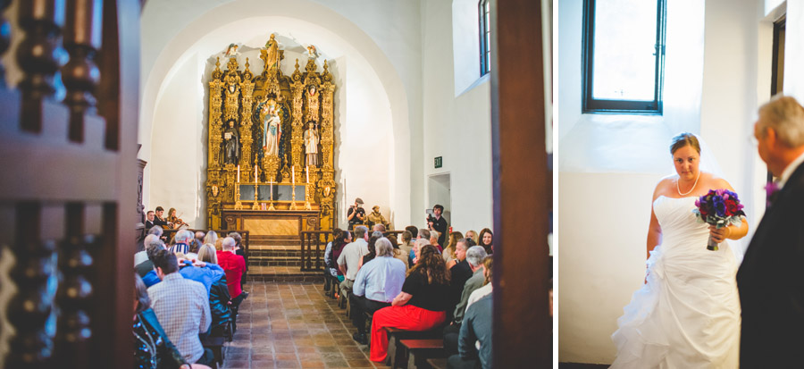 Saint Francis Chapel wedding ceremony