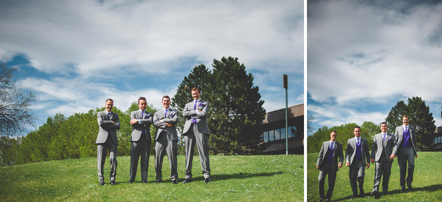 Groomsman photos in the Denver Tech Center