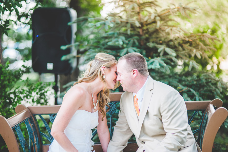 bride and groom share an emotional moment during private wedding vows