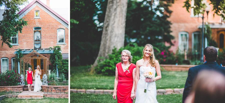 bride makes d-barn wedding entrance