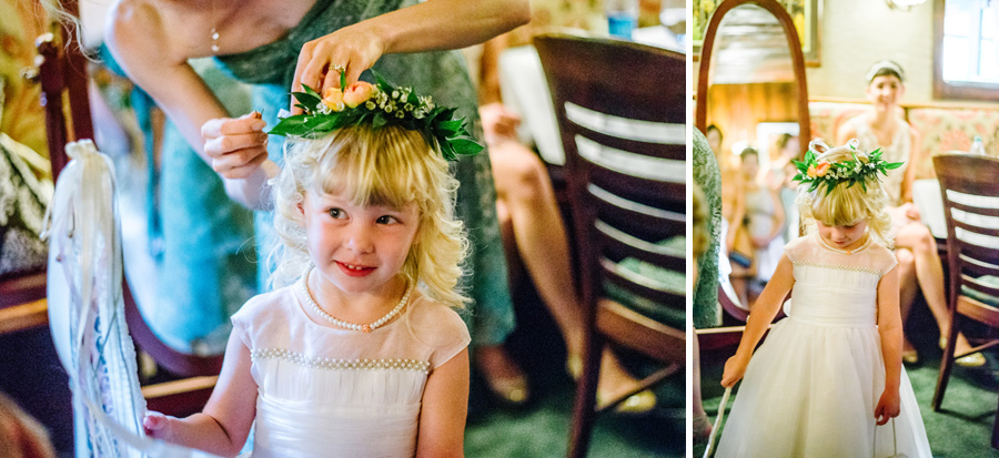 Flower girl floral crown boulder colorado