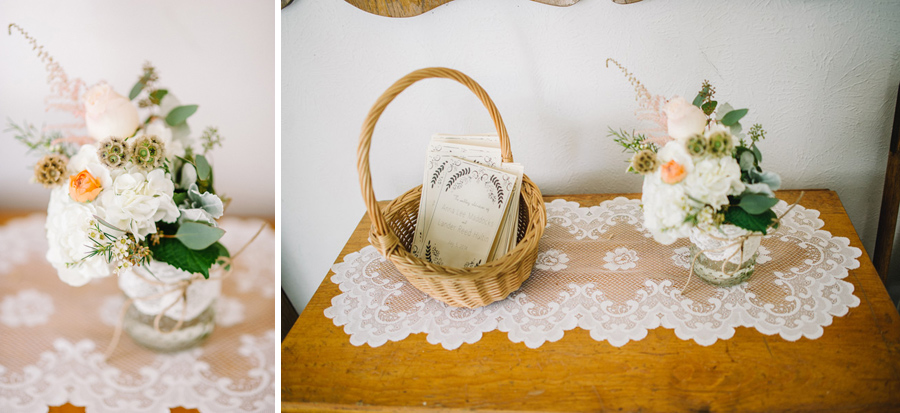 Vintage wedding details in Ryssby Church in Longmont Colorado