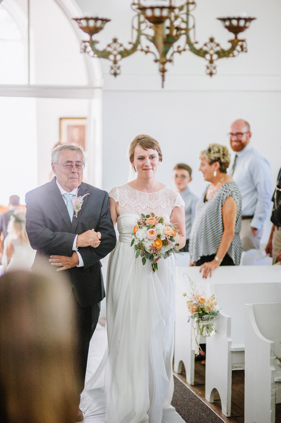 Emotional father walks bride down aisle at Ryssby Church