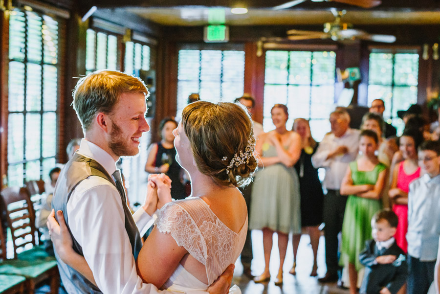 bride and groom first dance boulder co