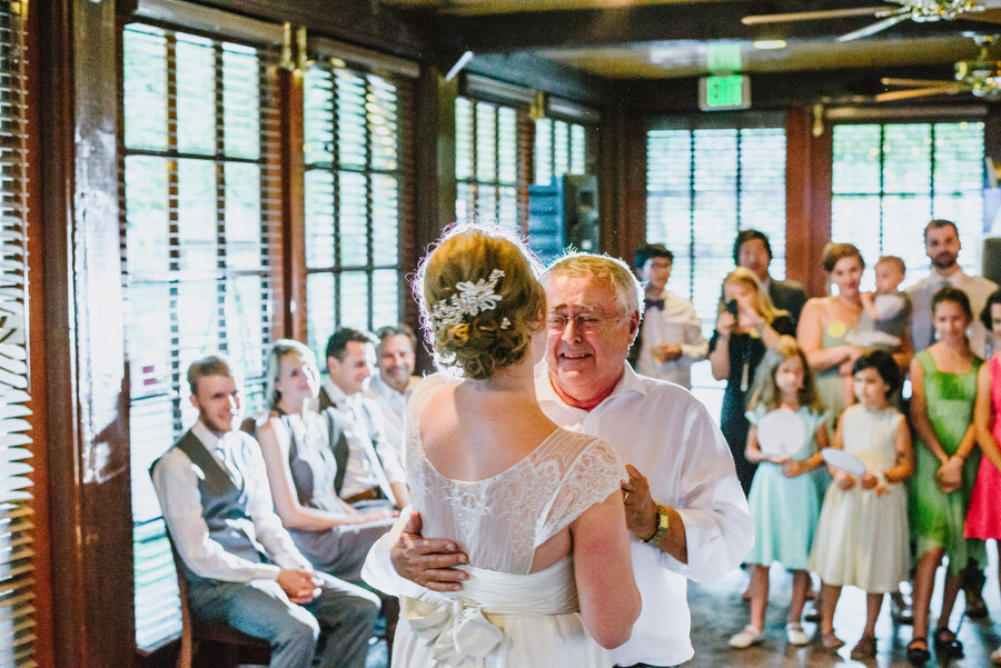 bride dances with her father at wedding