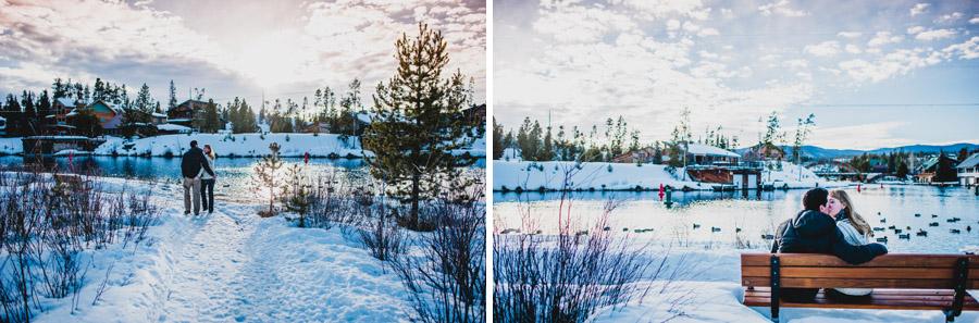 colorado mountain engagement photo at grand lake