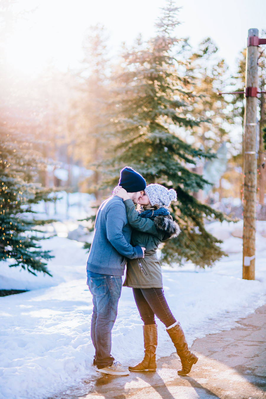 engagement photos at Keystone Resort in Colorado