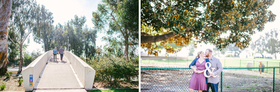 Engagement Photos near giant tree in balboa park