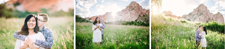 sunset engagement photos at Garden of the Gods in Colorado Springs
