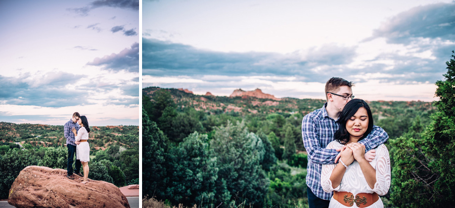 engagement photography in garden of the gods