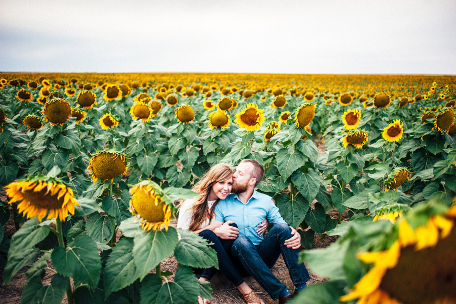 Portraits at the giant sunflower fields by the Denver Airport
