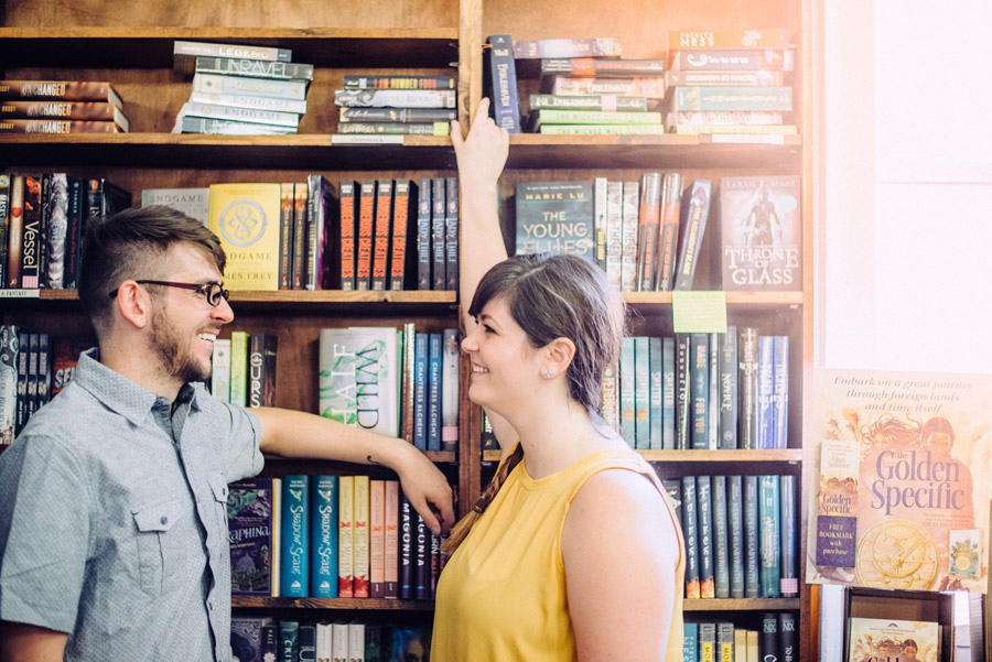 tattered cover engagement photos
