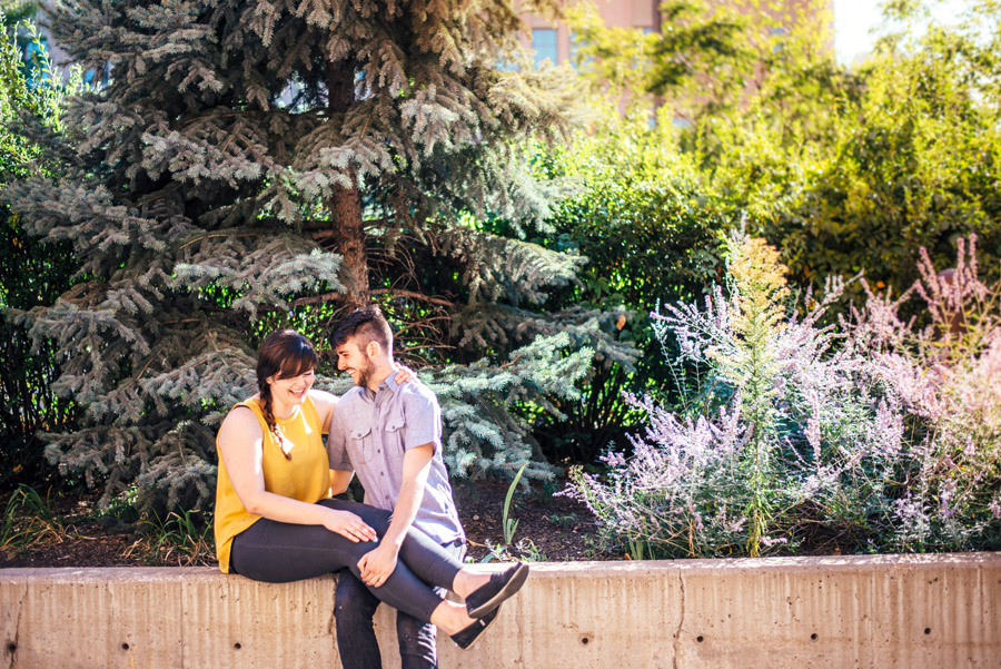 downtown denver engagement photos