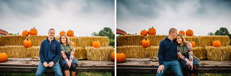 Engaegment photos taken at the Isabelle farms Pumpkin Patch