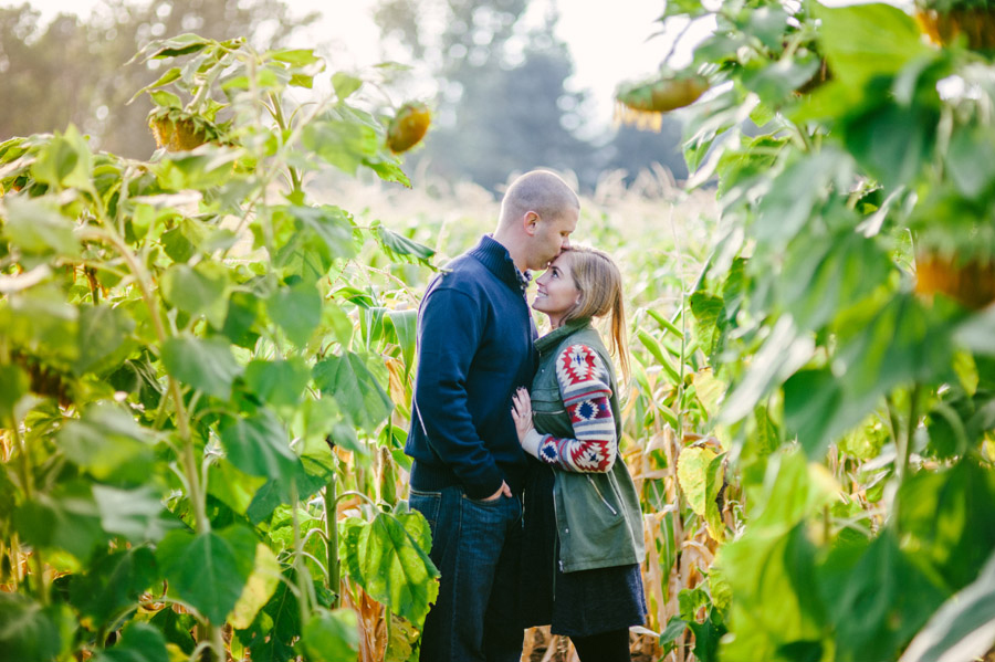 Sunflower Field Engagement Photos in Boulder, Colorado