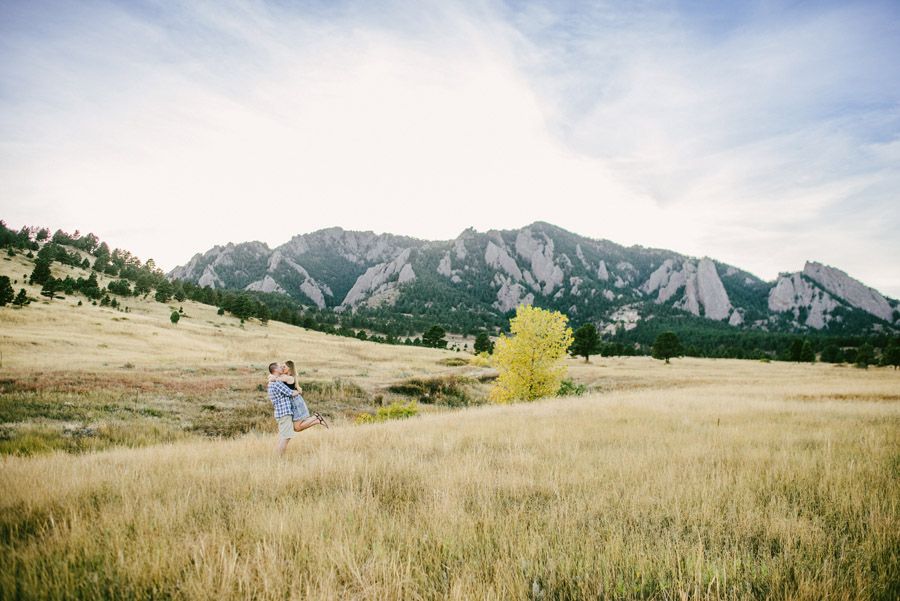 flatirons mountain engagement photos