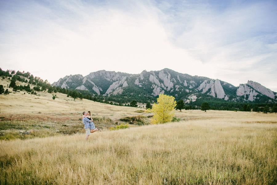 flatirons mountain engagement photos
