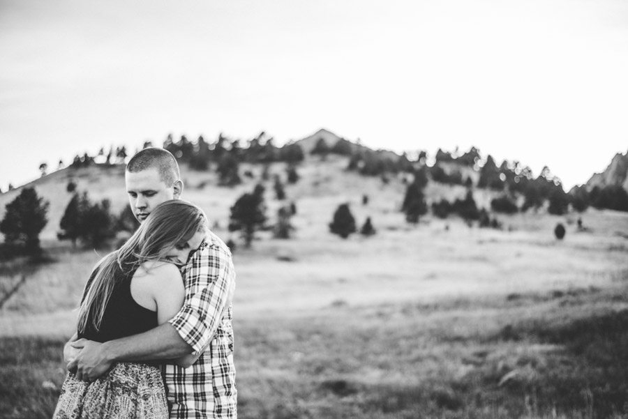 flatirons mountains engagement session