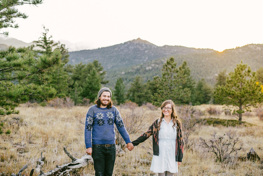 sunset engagement photos in hermit park