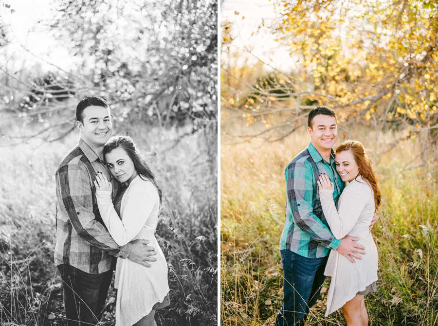couple posing for anniversary photos in denver