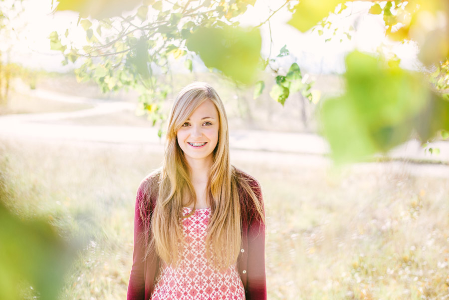 Colorado High School Senior girl poses for senior portrait