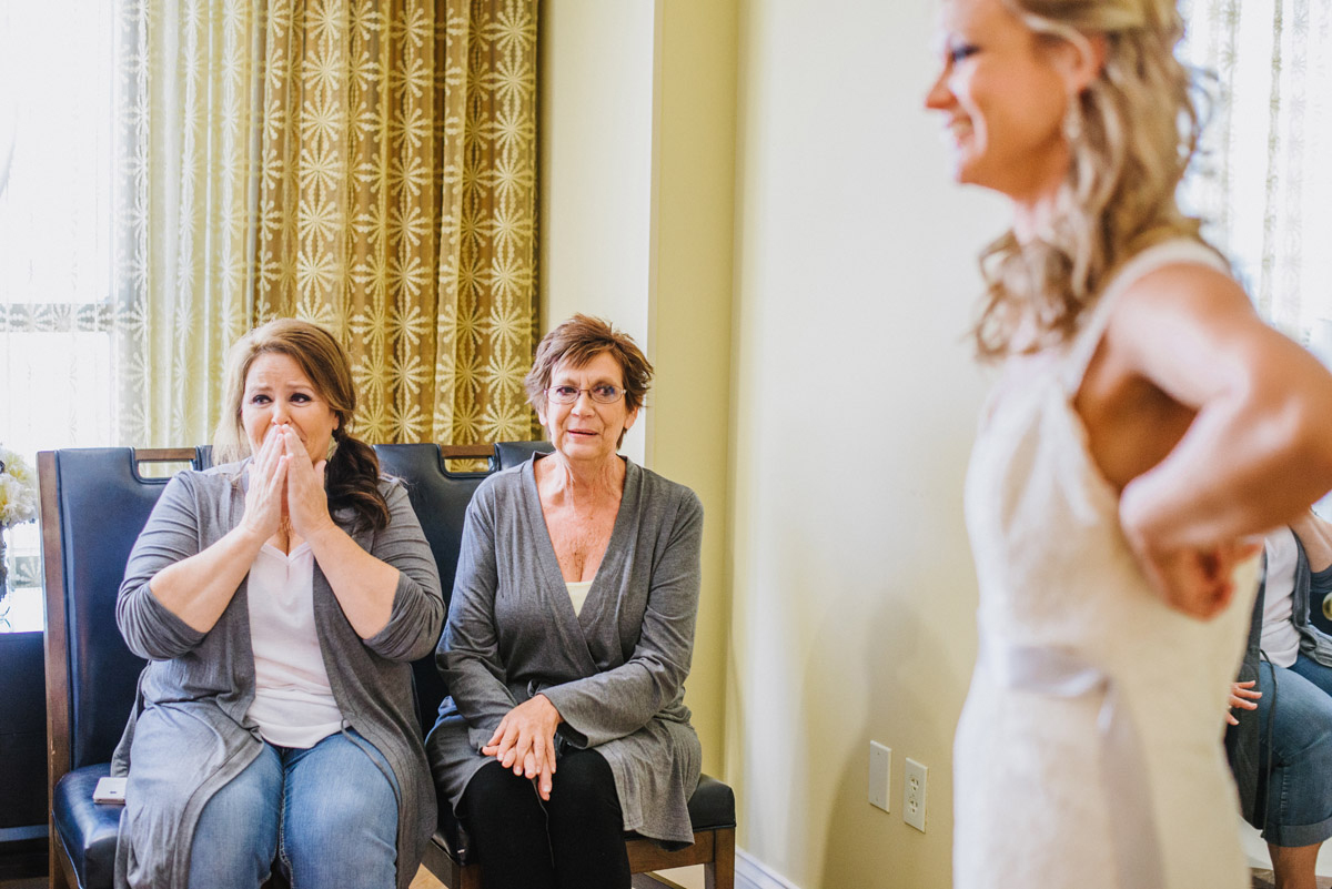 mother reaction to wedding dress