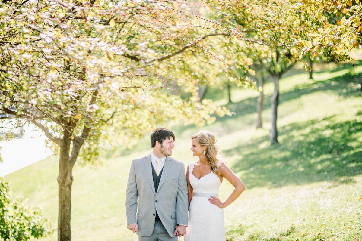 bride and groom posing before wedding