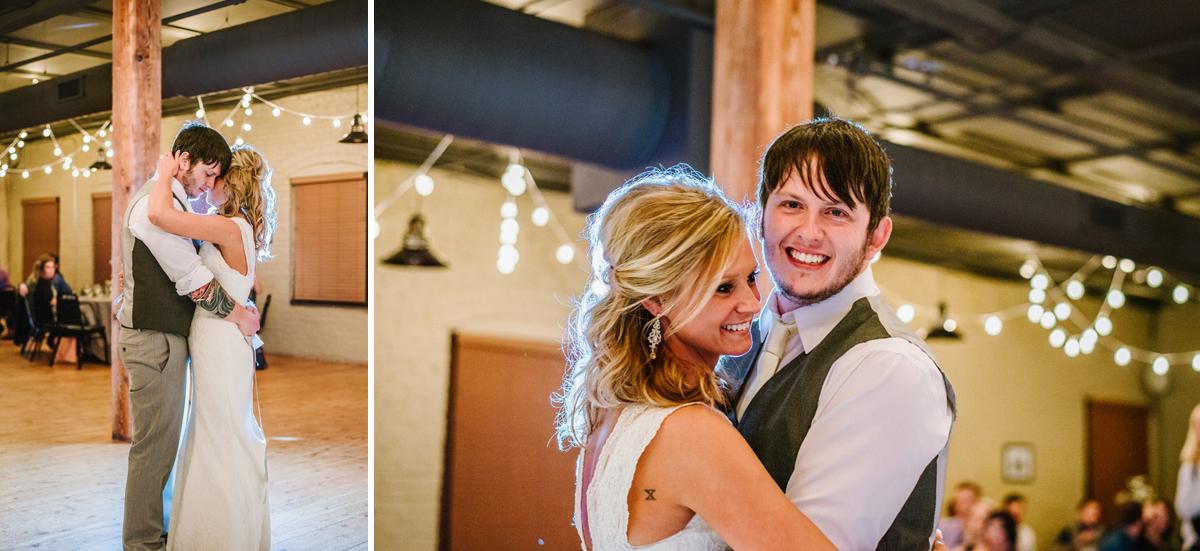 first dance old mattress factory wedding