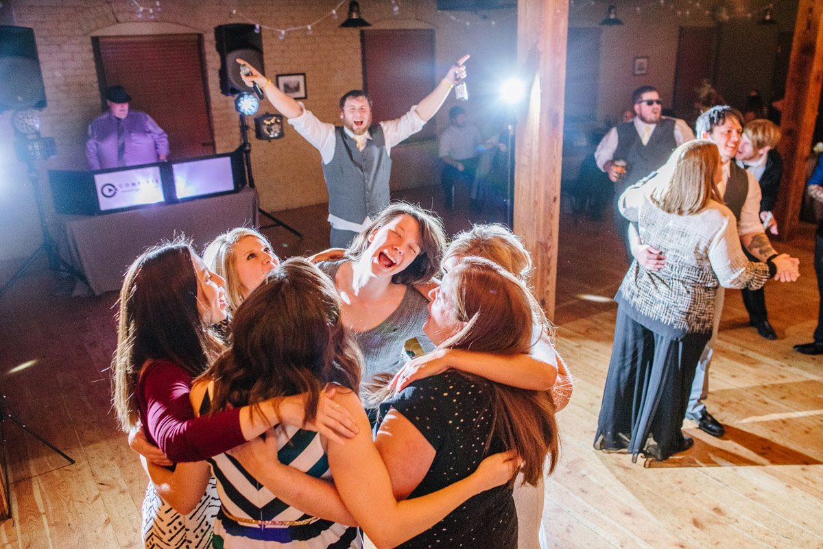 epic wedding reception at the old mattress factory omaha
