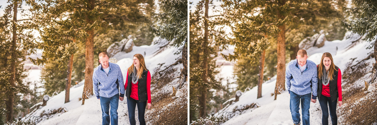 winter engagement photos in keystone colorado