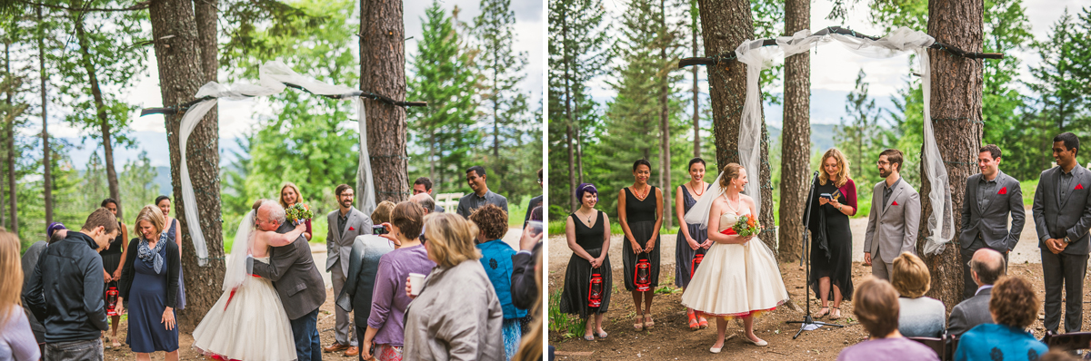 wedding ceremony photos at precious forest