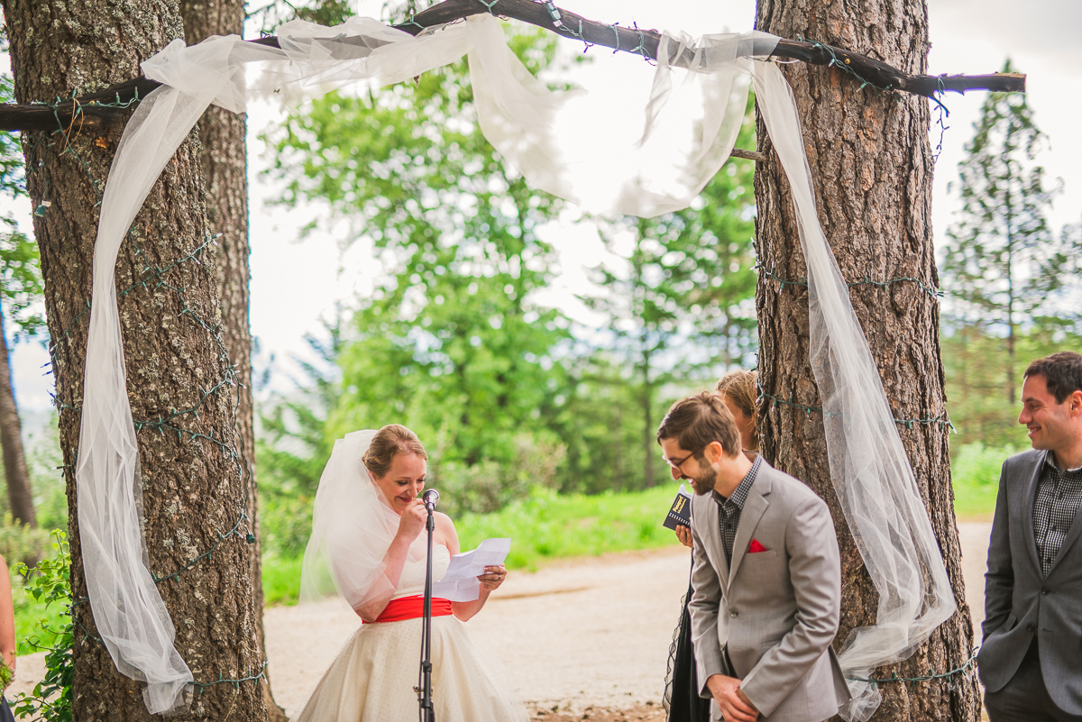 precious forest wedding ceremony